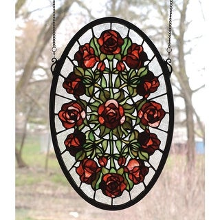 Meyda Tiffany 66005 Stained Glass Tiffany Window from the Red Roses Collection - n/a