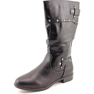 Rialto Fawcett Women Pointed Toe Synthetic Black Mid Calf Boot