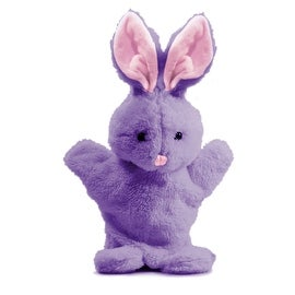 Beverly Hills Teddy Bear Company 6 inch Springtime Bunny Puppet in Purple