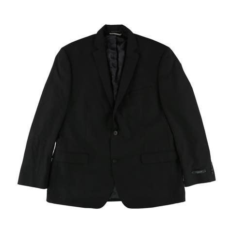 Andrew Marc Mens Solid Two Button Blazer Jacket - 44 Regular