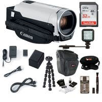 Canon VIXIA HF R800 Camcorder (White) with 32GB Supreme Bundle