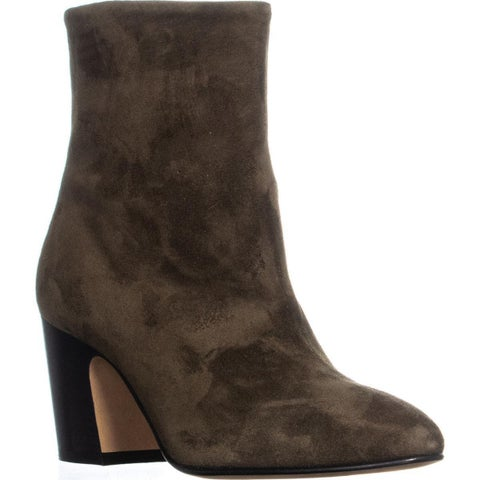 Vince Dryden Pointed Toe Ankle Boots, Dark Willow Suede