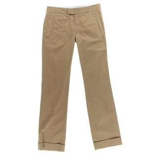 Catherine Malandrino Womens Twill Cuffed Casual Pants - 4