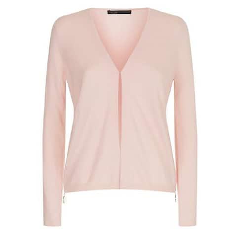 Maje Pink Side Zip Cardigan