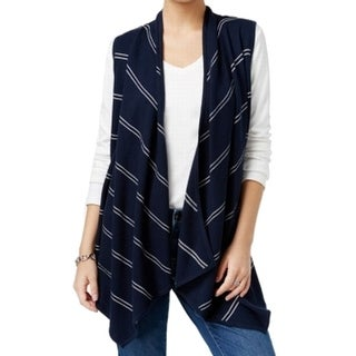 Tommy Hilfiger NEW Blue Women's Size Large L Striped Cardigan Sweater