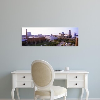 Easy Art Prints Panoramic Image 'View of buildings in a city, Durham, Durham County, North Carolina, USA' Canvas Art