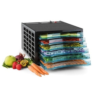Della Premium Electric Food Dehydrator Fruit Meat Dryer 6-Trays Preserver, 650w, Black