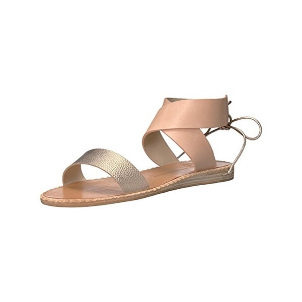 7ebc6e3a0 Shop Dolce Vita Womens Pomona Flat Sandals Leather Metallic - Free ...