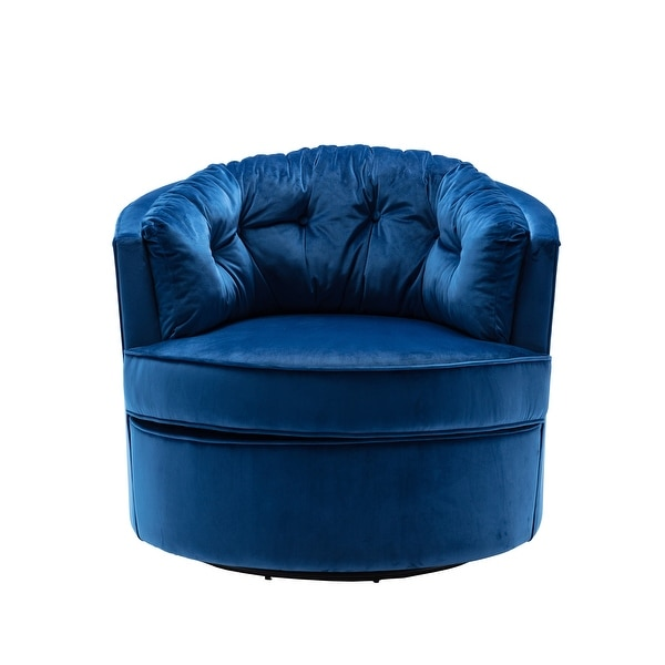 Modern Akili Swivel Accent Chair Barrel Chair For Living Room. Opens flyout.