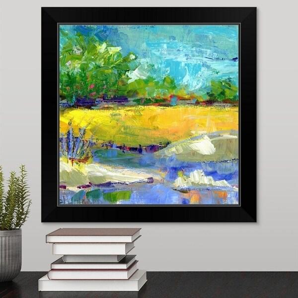 """""""Fall Marsh"""" Black Framed Print"""