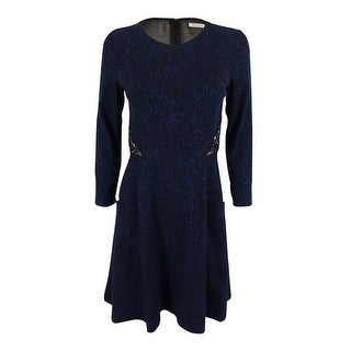 Rachel Roy Women's Embellished Printed Dress - Blue/Black