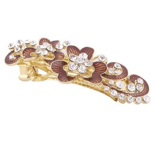 Lady Women Faux Crystal Flower Decor Hairstyle Hairpin Hair Barrette Multicolor
