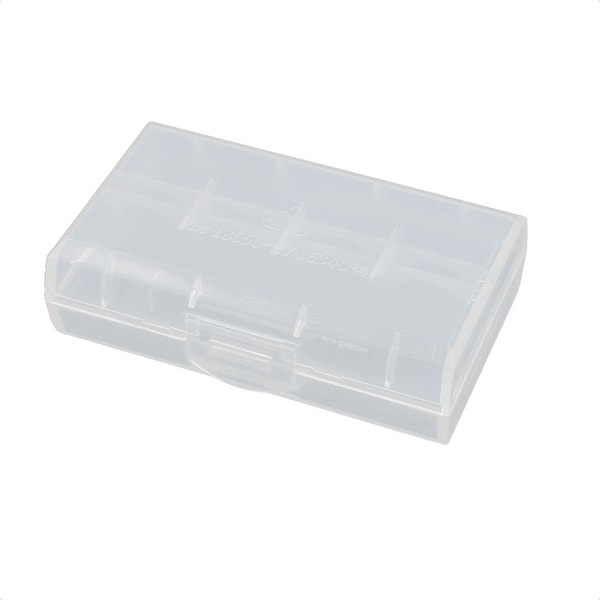 72mmx44mmx22mm Transparent Storage Case Hard Plastic Battery Holder Organizer