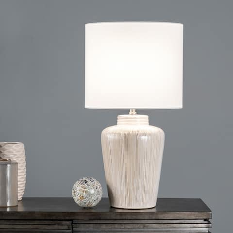 """nuLOOM Duffy 26"""" Ceramic Table Lamp - 13""""W x 13""""D x 25.5""""H"""