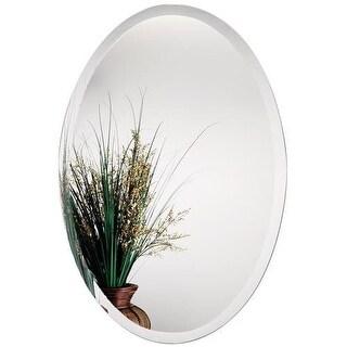 Alno 9567-102 24 x 36 Inch Frameless Oval Mirror