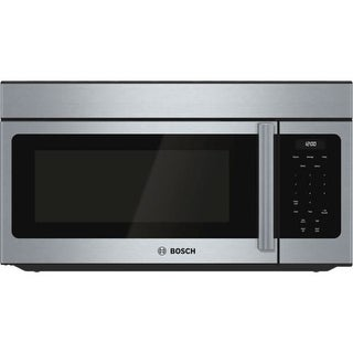 Bosch HMV303U 300 Series 30 Inch Wide 1.6 Cu. Ft. Over-the-Range Microwave with 300 CFM Blower and Weight Controlled Sensor