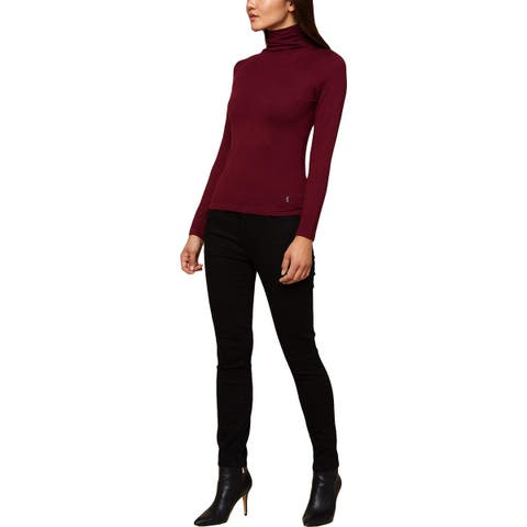 Juicy Couture Black Label Womens Turtleneck Sweater Knit Charm