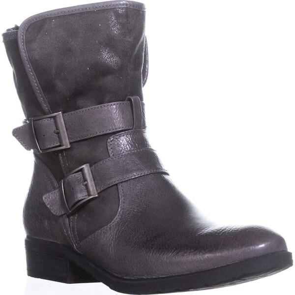 BareTraps Yoshie Comfort Ankle Boots, Gunmetal Oil, 11 US, Gunmetal Oil