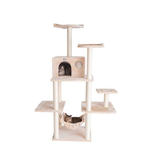 GleePet GP78680 68-Inch Cat Tree With Five Levels, Hammock, Condo