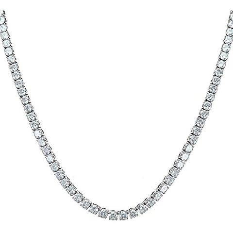 Charles Raymond Iced Out Hip Hop Gold Tone CZ Miami Tennis Chain Choker Necklaces - Tennis - 24inches