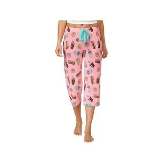 Jenni by Jennifer Moore Womens Pajama Bottoms Donut Print Cropped