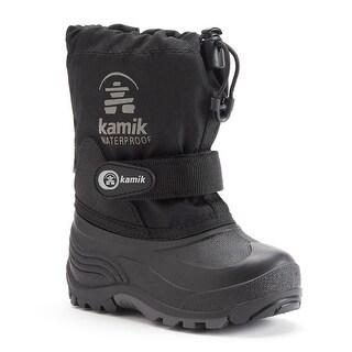 Kamik Waterbug5 Big Boys Waterproof Winter Boots - Black - 4