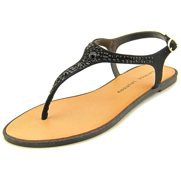 Chinese Laundry Gracious Women  Open-Toe Synthetic Black Slingback Sandal
