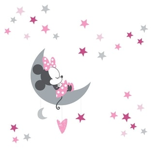 Link to Disney Baby Minnie Mouse Pink/Gray Celestial Wall Decals by Lambs & Ivy Similar Items in Wall Decor