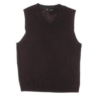 Weatherproof NEW Purple Mens Size 2XL Ribbed Pullover Vest Sweater