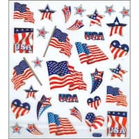 Multicolored Stickers-Patriotic