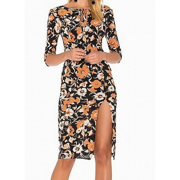Shop For Love Lemons Black Women S Size Xs Floral Sheath Dress Silk Free Shipping Today Overstock 27198861