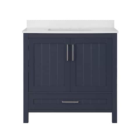Ove Decors Kansas 36 in. Single Sink Bathroom Vanity in Midnight Blue
