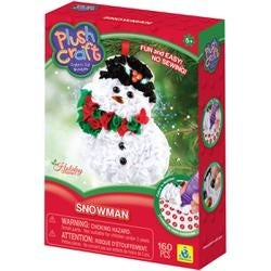 Snowman-Plush Craft Fabric By Number Ornament Kit
