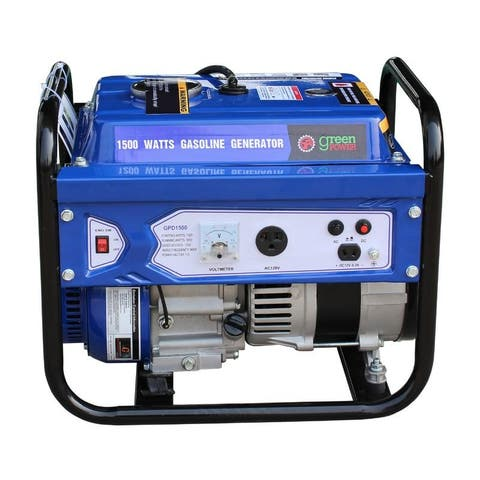 Green Power 1500-Watt Gas Powered Portable Generator with LCT Engine