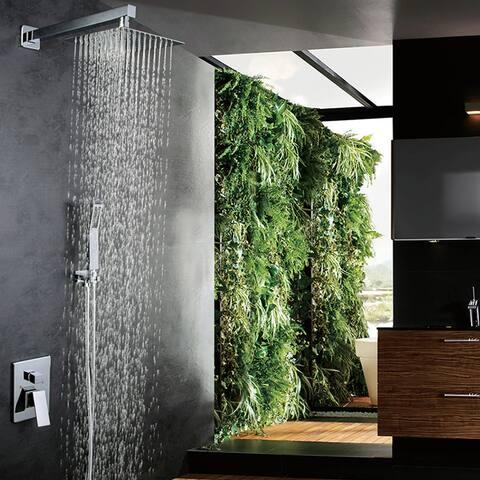 """10"""" Luxury Single Handle Mixer Shower Combo Set"""