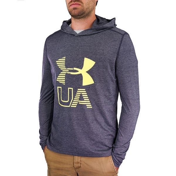 fe617b32b998 Shop Under Armour Men s Threadborne Big Logo L S Hoodie - Navy Yellow - On  Sale - Free Shipping On Orders Over  45 - Overstock - 23485355
