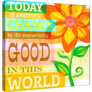 "PTM Images 9-100989  PTM Canvas Collection 12"" x 12"" - ""Dream Every Day - Good"" Giclee Flowers Art Print on Canvas"