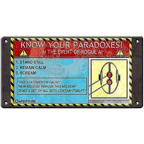 Portal Paradox Tin Wall Sign - Multi