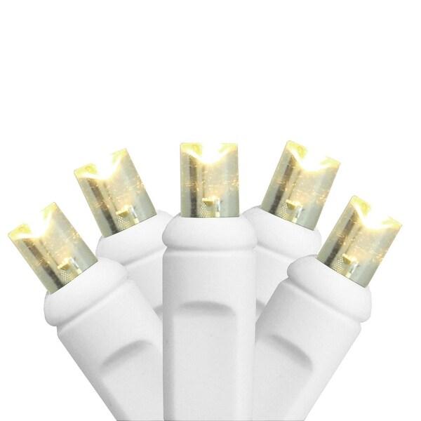 50ct Warm White Twinkling LED Wide Angle Christmas Light Set 4 Light Curtain