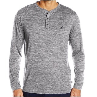 Nautica NEW Gray Heather Mens Size 2XL Long-Sleeve Henley Nightshirt