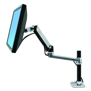 "Ergotron 45-295-026 Lx Desk Mount Monitor Arm, Tall Pole (13.25"")"