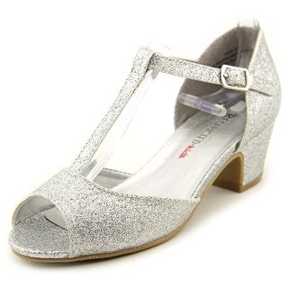 Restricted Fairytale Youth Open Toe Synthetic Silver Sandals