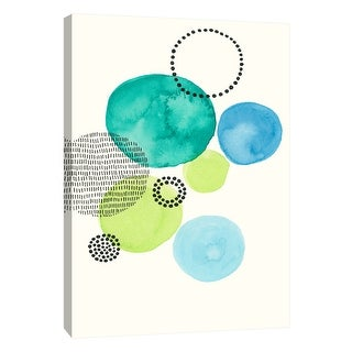 """PTM Images 9-108639  PTM Canvas Collection 10"""" x 8"""" - """"Circles 3"""" Giclee Abstract Art Print on Canvas"""