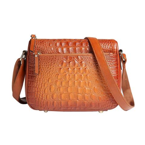Sonaa Leather Crossbody Handbag