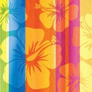 """Club Pack of 360 Sunset Stripes Hawaiian Hibiscus Inspired Disposable Beverage Napkins 5"""""""