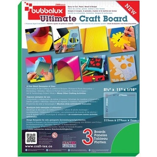 "Bubbalux Ultimate Creative Craft Board 8.5""X11"" 3/Pkg-Green"