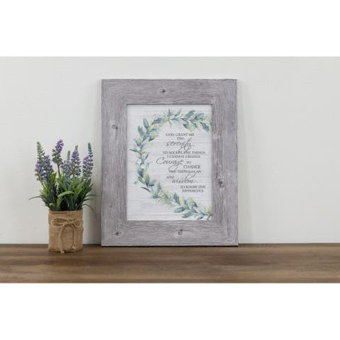 God Grant Me The Serenity Prayer Framed Art Green Ivy Farmhouse Decor