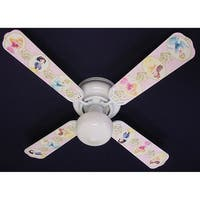 Disney's Princess Pink Flower Print Blades 42in Ceiling Fan Light Kit - Multi