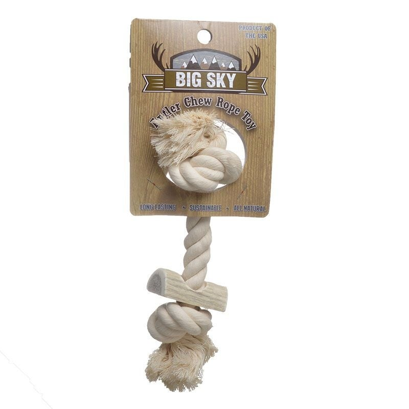 Big Sky Antler Chew with Rope -  Small - (8 Long)