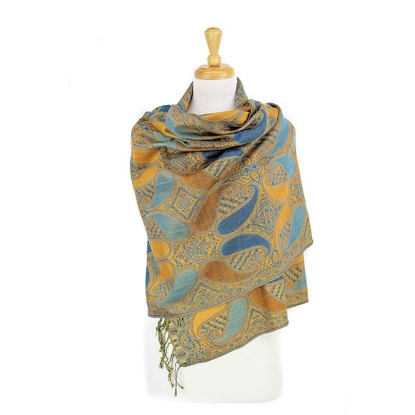 93f0db27b4b Shop Double Layers Paisley Pashmina Shawl Scarf Stole - On Sale ...